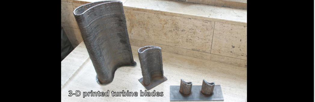 3-D printed turbine blades